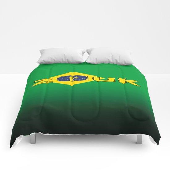 colors of brazil - lets dance brazilian zouk Comforters