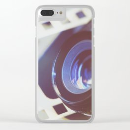 Lens SLR camera on perforation film Clear iPhone Case