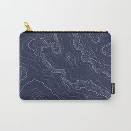 Navy topography map Carry-All Pouch