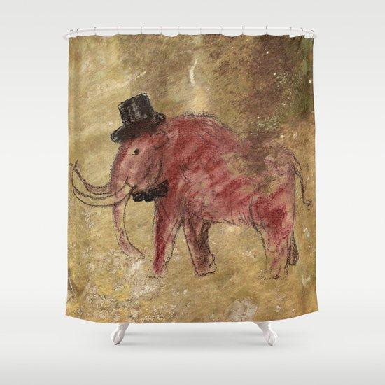 Cave art vintage mamut. Shower Curtain