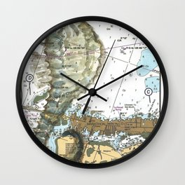 The Little Seahorse Wall Clock