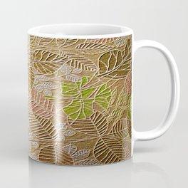 Embossed Golden Leaf Coffee Mug
