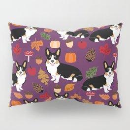 Tricolored Corgi autumn woodland pillow print iphone case phone case corgis cute design Pillow Sham