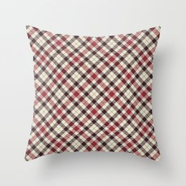Holiday Plaid 23 Throw Pillow