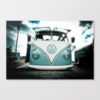 vw bus Canvas Prints featuring vw bus  by Aaron Joslin Photography
