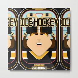 Ice Hockey Black and Yellow - Boardie Zamboni - June version Metal Print