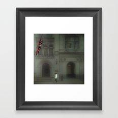 Walking In London. Framed Art Print