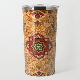 Texture of textile fabrics, clothing and carpets Travel Mug