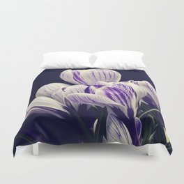 Crocus sativus Duvet Cover