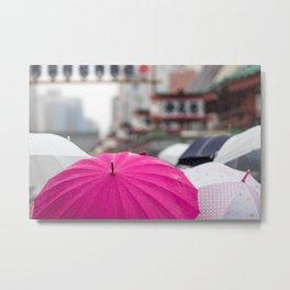 A Sea of Umbrellas Metal Print