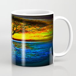 Duality Tree of Life Reflection Moon & Sun Day & Night Painting by CAP Coffee Mug