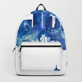 Leicester England Skyline Blue Backpack