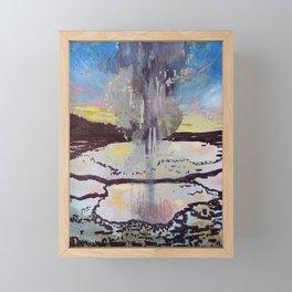 Biscuit Geyser Framed Mini Art Print