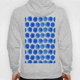 Blue acrylic circles pattern Hoody
