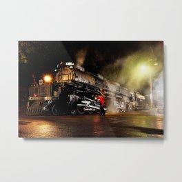 Lantern Inspection. UP 4014. Union Pacific. Steam Train Locomotive. Big Boy. © J. Montague. Metal Print