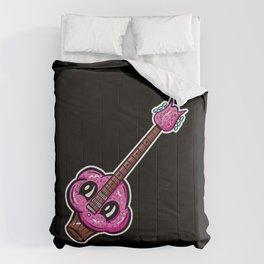 Sweet Cupcake Guitar - Cute Pink Sprinkles Cupcake Cartoon Comforters