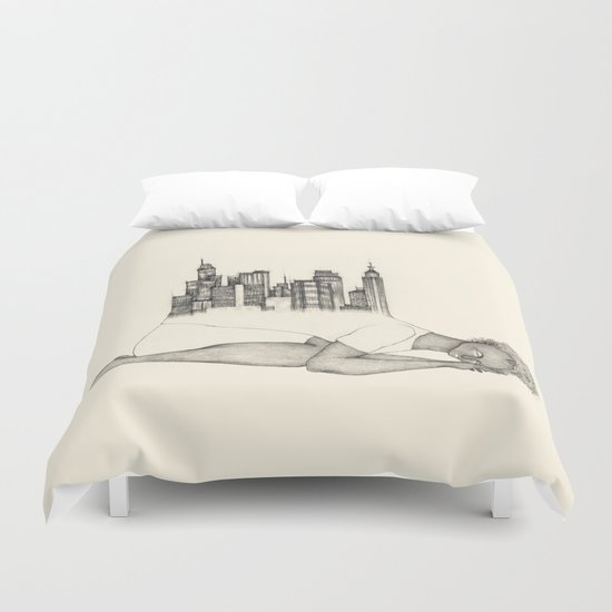 CITIES ARE GROWING Duvet Cover