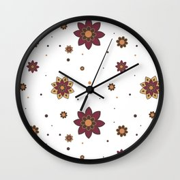Flowers Wall Clock