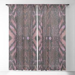 Abstract Wildlife Animal Pattern Blush Sheer Curtain