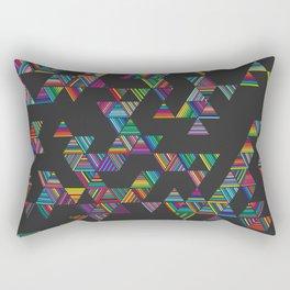 Rainbow Night Rain Rectangular Pillow