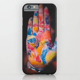 Colored hand iPhone Case