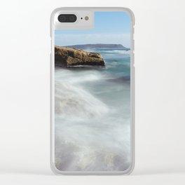 Noordhoek Beach - Long Exposure Seascape Clear iPhone Case