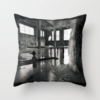 welcome Throw Pillows featuring Welcome by Robin Curtiss