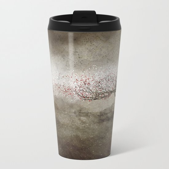 Blooming Metal Travel Mug