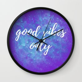 Good Vibes Only - Purple Wall Clock