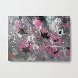 Pink Splash Metal Print