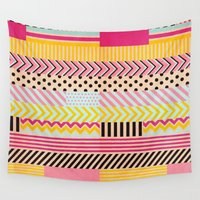 tape Wall Tapestries featuring Decorative Tape II by Louise Machado