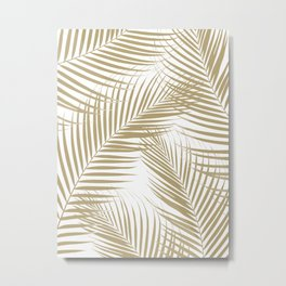 Palm Leaves - Gold Cali Vibes #1 #tropical #decor #art #society6 Metal Print