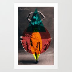 dance in shape Art Print