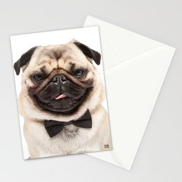 Helmut the Pug - Bow Tie Stationery Cards