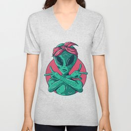 Alien Gangster Unisex V-Neck