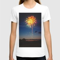 minnesota T-shirts featuring Minnesota Fireworks by Justine Joy