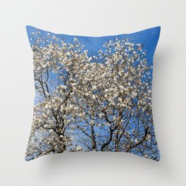 May flowering tree Throw Pillow