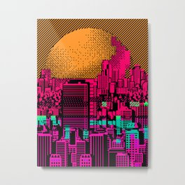 Cityscape Collage 01ZX Metal Print
