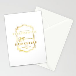 Never Underestimate An Old Guy With A Bass Guitar Stationery Cards