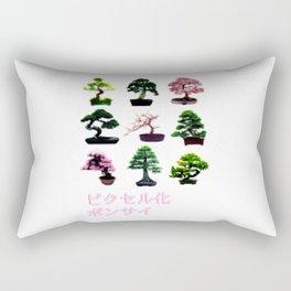 Pixelated Bonsai  Rectangular Pillow