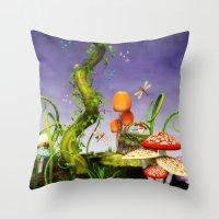 fairytale Throw Pillows featuring fairytale by Ancello