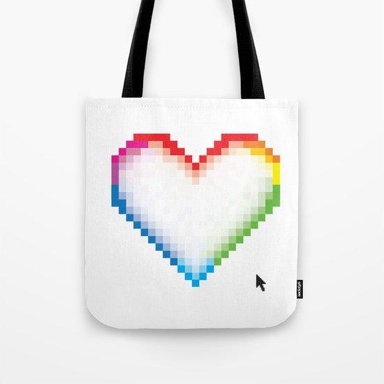 Pixel Love Tote Bag