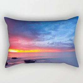 Sunset Ocean Rectangular Pillow