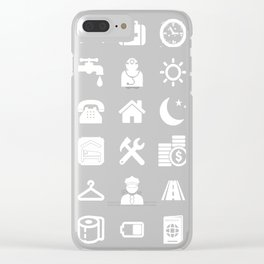 Traveler white shirt Clear iPhone Case