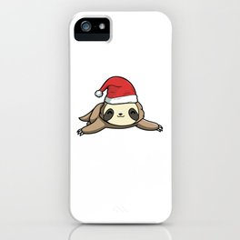 Wake Me Up When It's Slothmas Sloth Candy Cane iPhone Case