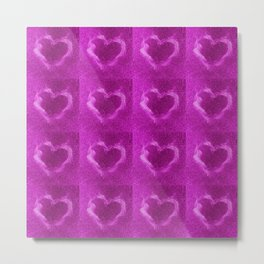 pink flame hearts Metal Print