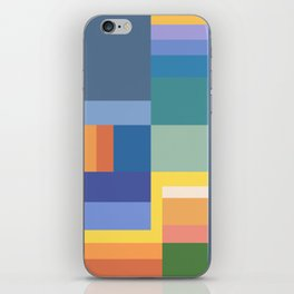 Blue Rainbow Gradient iPhone Skin
