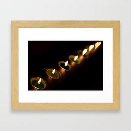 heart candles Framed Art Print