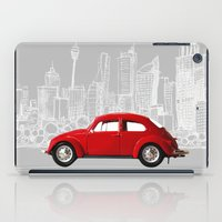 volkswagen iPad Cases featuring red volkswagen  by Arefin