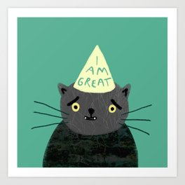 "Fat Olive ""I Am Great"" Art Print"